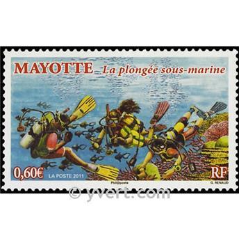 n.o 255 -  Sello Mayotte Correos
