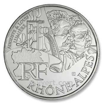 10 € DE LAS REGIONES - Rhône-Alpes - 2012
