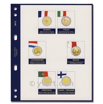 Recambios para monedas de 2 EUROS conmemorativas 2012 - MARINI® (No incluye: los 10 años del euro)