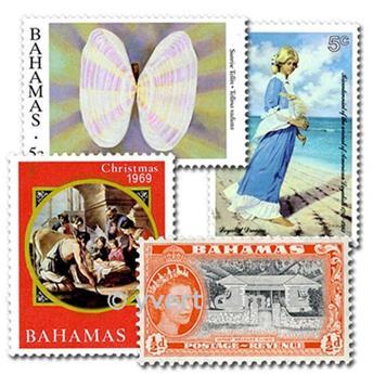 BAHAMAS : pochette de 25 timbres