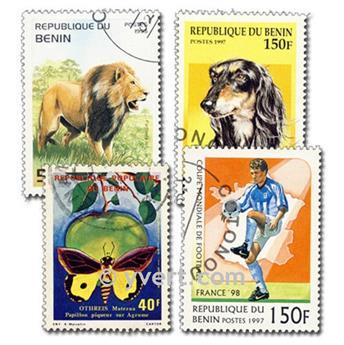 BENÍN: lote de 200 sellos