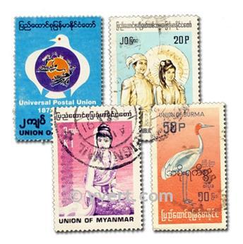 BIRMANIA: lote de 50 sellos