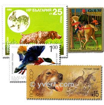 CHASSE : pochette de 50 timbres