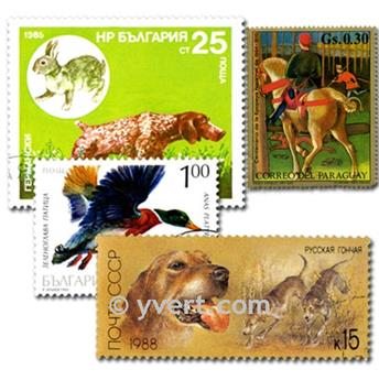 HUNTING: envelope of 50 stamps