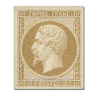 n° 13B obl. - Napoléon III (Empire Non dentelé)