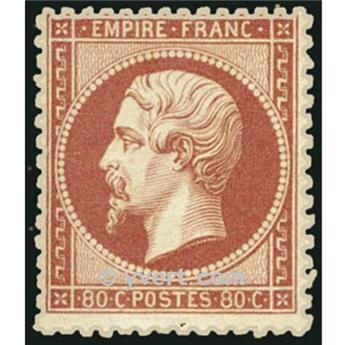 n° 24 obl. - Napoléon III (Empire non lauré)