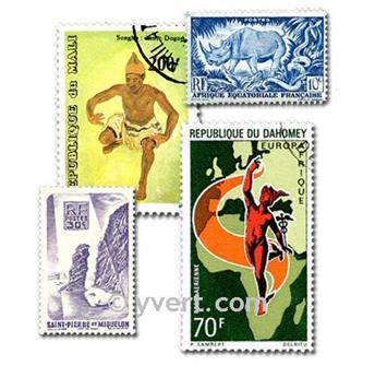 COLONIAS FRANCIA A. DE LA INDEPENDENCIA: lote de 300 sellos