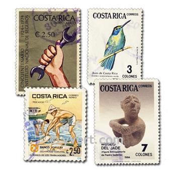 COSTA RICA : pochette de 25 timbres