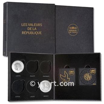 """COFFRET """"VALEURS DE LA RÉPUBLIQUE"""" - Monnaie de Paris"""
