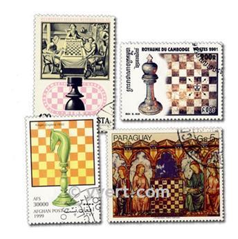 AJEDREZ: lote de 50 sellos