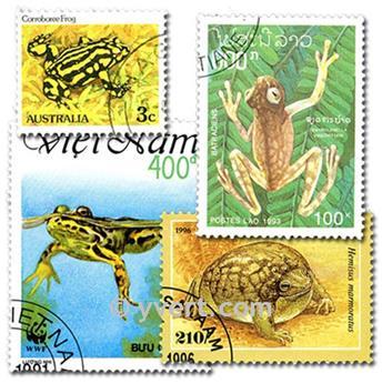 GRENOUILLES : pochette de 25 timbres