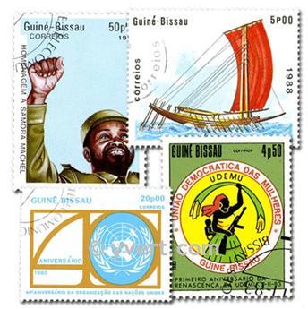 GUINEE BISSAU : pochette de 200 timbres