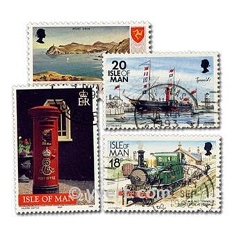 ISLA DE MAN: lote de 50 sellos