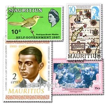 ISLA MAURICIO: lote de 50 sellos