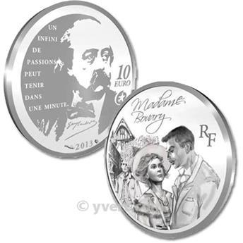 10 EUROS PRATA - França - MADAME BOVARY