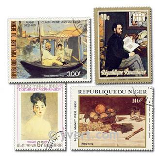 MANET : pochette de 15 timbres