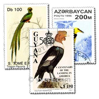 PÁJAROS: lote de 200 sellos