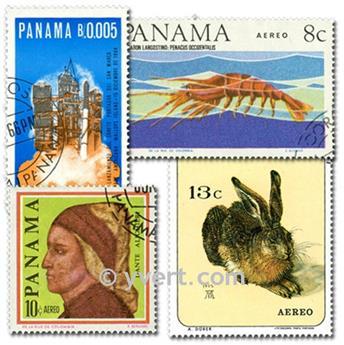 PANAMA: envelope of 100 stamps