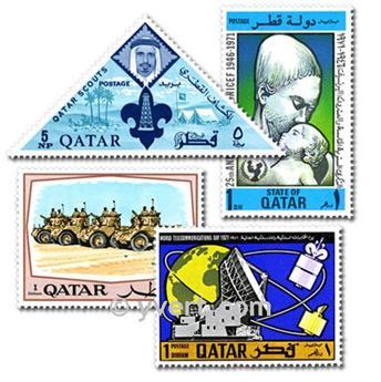 QATAR : pochette de 25 timbres