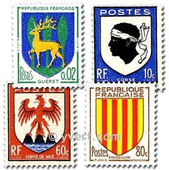 REP. FRANCESA ESCUDOS: lote de 50 sellos