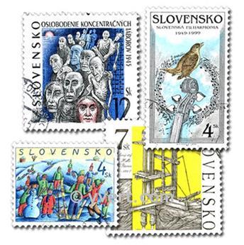 ESLOVAQUIA: lote de 100 sellos