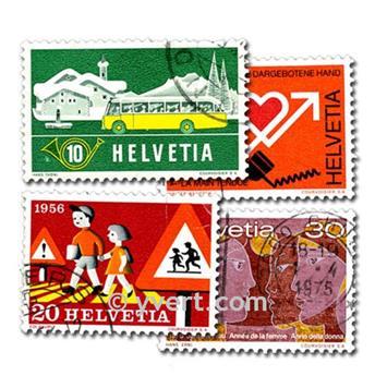 SUIZA: lote de 500 sellos
