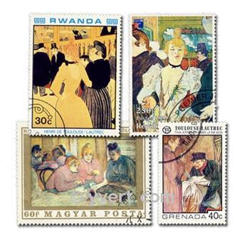 TOULOUSE LAUTREC : pochette de 20 timbres