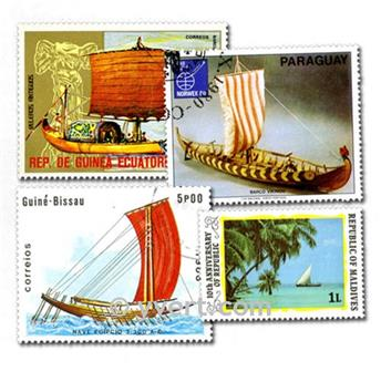 SAILING BOATS: envelope of 300 stamps