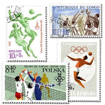 VOLLEY : pochette de 25 timbres