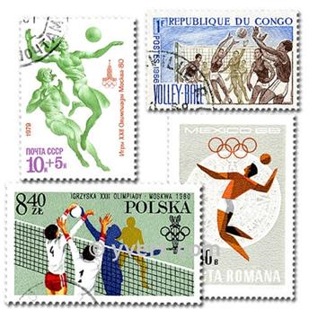 VOLLEYBALL: envelope of 25 stamps