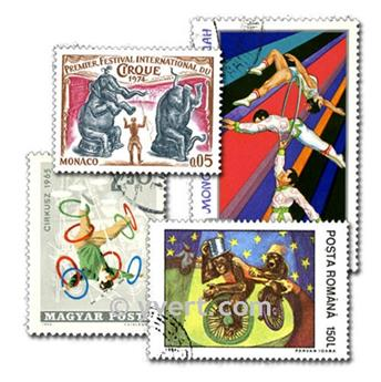 CIRCUS: envelope of 25 stamps