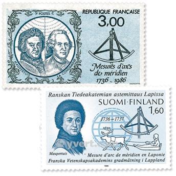 1986 - Emissão conjunta-França-Finlândia-(lote)