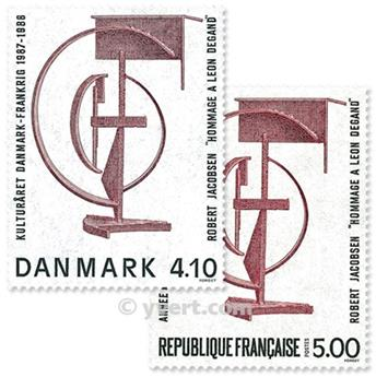 1988 - Joint issue-France-Denmark-(mounts)