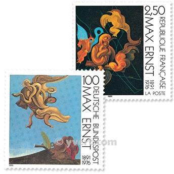 1991 - Emissão conjunta-França-Alemanha-(lote)