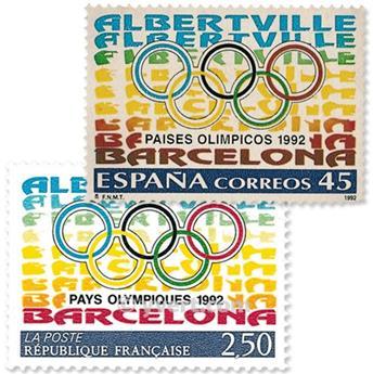 1992 - Emissão conjunta-França-Espanha-(lote)