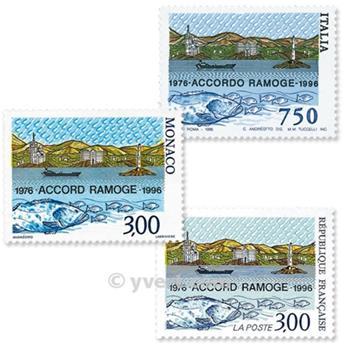 1996 - Emissão conjunta-França-Itália-Mónaco-(lote)