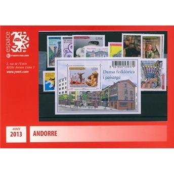 n.o 734/747 -  Sello Andorra Año completo (2013)