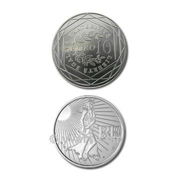 10 EUROS PRATA - FRANÇA 2009