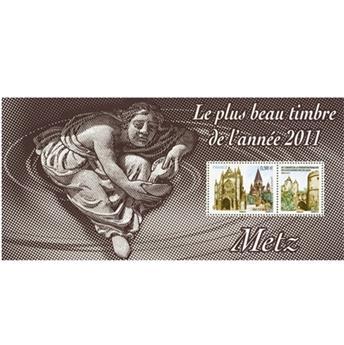 n.o 75 -  Sello Francia Hojas recuerdo