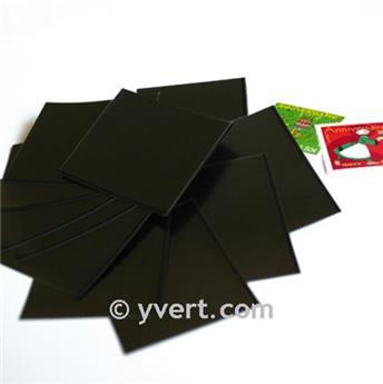 Pochettes simple soudure - Lxh:69x266mm (Fond noir)