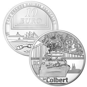 10 EUROS PLATA - FRANCIA - LE COLBERT PRF 2015