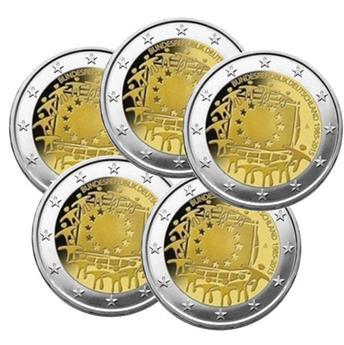 2 EURO COMMEMORATIVE 2015 : ALLEMAGNE (30E ANNIVERSAIRE DU DRAPEAU EUROPEEN, 5 pièces)