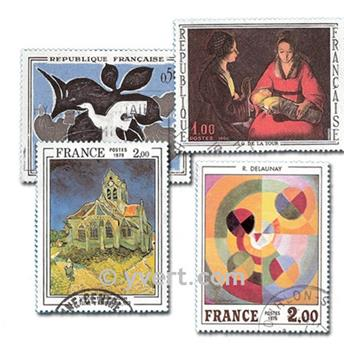 FRANCE PAINTINGS: envelope of 100 stamps