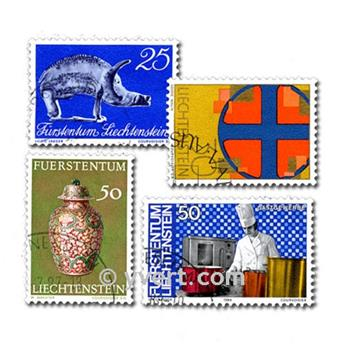LIECHTENSTEIN: envelope of 100 stamps