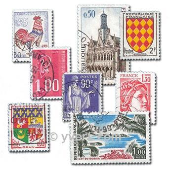FRANÇA: lote de 1000 selos