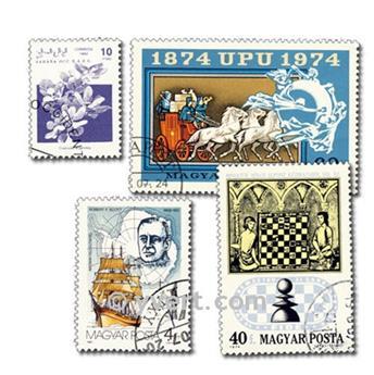 MONDE ENTIER : pochette de 1000 timbres