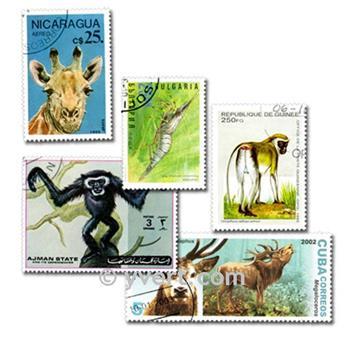 ANIMALES: lote de 1000 sellos