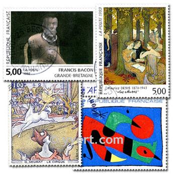 PAINTINGS: envelope of 300 stamps