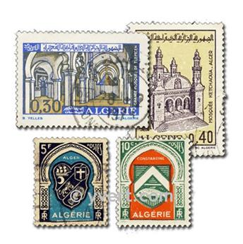 ALGERIE : pochette de 100 timbres
