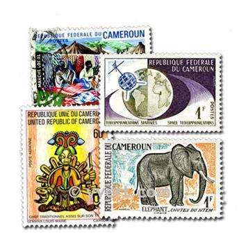 CAMARÕES: lote de 100 selos